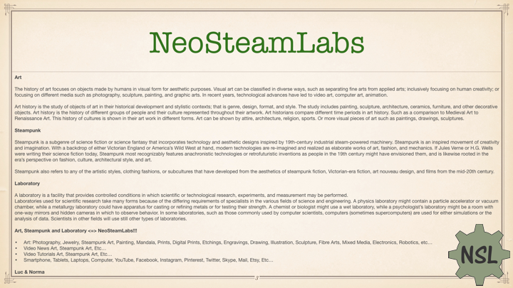 NeoSteamLabs Art